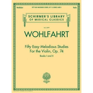 Fifty Easy Melodious Studies for the Violin op. 74 - Wohlfahrt - 50 łatwych etiud na skrzypce op. 74