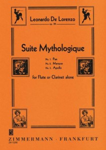 Lorenzo: Suite Mythologique op. 38 for Flute or Clarinet Alone - nuty na flet poprzeczny lub klarnet solo