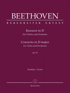 Beethoven: Concerto in D major for Violin and Orchestra - koncert skrzypcowy D-dur op. 61 - nuty na skrzypce i orkiestrę - partytura