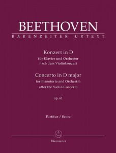Beethoven: Concerto in D major op. 61 for Pianoforte and Orchestra after the Violin Concerto - transkrypcja koncertu skrzypcowego D-dur op. 61 na fortepian i orkiestrę - partytura