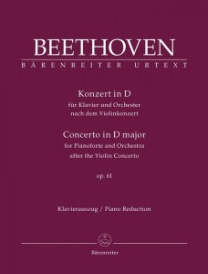 Beethoven: Concerto in D major op. 61 for Pianoforte and Orchestra after the Violin Concerto - transkrypcja koncertu skrzypcowego D-dur op. 61 na fortepian i orkiestrę - nuty na dwa fortepiany