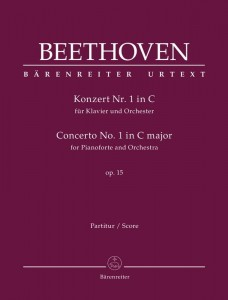 Beethoven: Concerto No. 1 in C major for Pianoforte and Orchestra op. 15 - I koncert fortepianowy C-dur Beethovena - nuty na fortepian i orkiestrę - partytura
