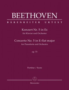 Beethoven: Concerto No. 5 in E-flat major 'Emperor' for Pianoforte and Orchestra op. 73 - II koncert fortepianowy Es-dur 'Cesarski' Beethovena - nuty na fortepian i orkiestrę - partytura