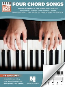 Super Easy Songbook: Four Chord Songs - proste nuty literowe na pianino lub keyboard