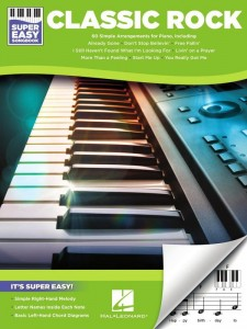 Super Easy Songbook: Classic Rock - proste nuty literowe na pianino lub keyboard