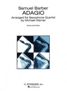 Samuel Barber: Adagio for Strings arranged for Saxophone Quartet by Michael Warner - nuty na kwartet saksofonowy - księgarnia muzyczna Alenuty.pl