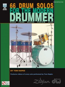 66 Drum Solos for the Modern Drummer - Tom Hapke (+ video online) - nuty na perkusję