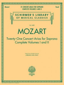 Mozart: 21 Concert Arias For Soprano - Complete Volumes 1 and 2 - nuty na głos z fortepianem