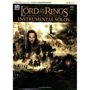 The Lord Of The Rings Instrumental Solos: Cello / Piano Accompaniment - muzyka z filmu Władca Pierścieni na wiolonczelę