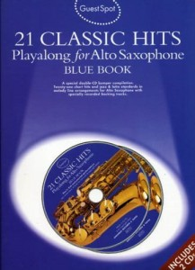 Guest Spot: 21 Classic Hits Playalong For Alto Saxophone - Blue Book (+ 2 płyty CD) - nuty na saksofon altowy