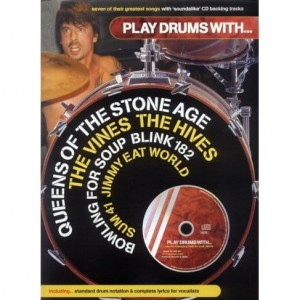 Play Drums with Queens of the Stone Age, The Vines, The Hives, Bowling for Soup, Blink 182,  Sum 41, Jimmy Eat World - nuty na perkusję (+ płyta CD) - księgarnia muzyczna Alenuty.pl
