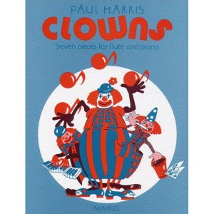 Paul Harris: Clowns - nuty na flet z fortepianem