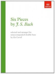 Bach J.S. - Six Pieces for Unaccompanied Double Bass - nuty na kontrabas - Carroll