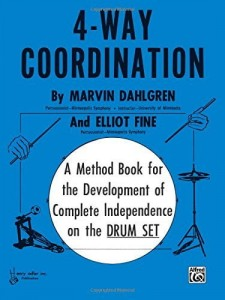 Marvin Dahlgren: 4-Way Coordination - A Method Book for the Development of Complete Independence on the Drum Set - podręcznik do nauki gry na perkusji