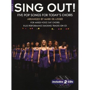 Sing Out! 5 Pop Songs For Today's Choirs Book 2 (+ audio online) - nuty na chór SAT z fortepianem