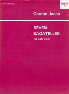 Gordon Jacob: Seven Bagatelles for oboe solo - nuty na obój solo