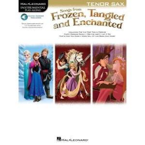 Songs From Frozen, Tangled And Enchanted: Tenor Sax - nuty na saksofon tenorowy (+ audio online) - księgarnia muzyczna Alenuty.pl