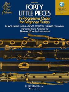 Forty Little Pieces In Progressive Order For Beginner Flutists - Moyse - nuty na flet z fortepianem (+ audio online)