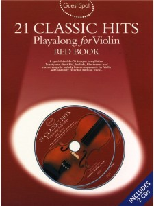 Guest Spot: 21 Classic Hits Playalong For Violin - Red Book (+ 2 płyty CD) - nuty na skrzypce