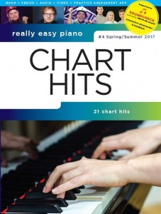 Really Easy Piano: Chart Hits 4 - Spring / Summer 2017 - łatwe utwory na fortepian (+ audio online)
