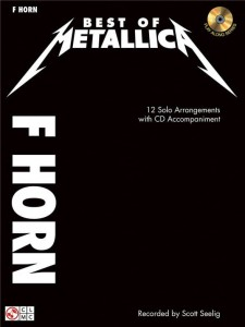 Best of Metallica: F Horn (+ płyta CD) - nuty na róg (waltornię)