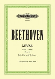 Beethoven: Messe C-Dur op. 86 - Mass in C major - Msza C-Dur - nuty na chór + wyciąg fortepianowy