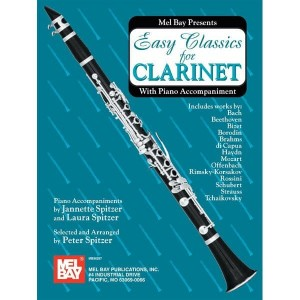 Easy Classics for Clarinet With Piano Accompaniment - nuty na klarnet z fortepianem