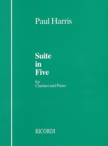 Harris - Suite In Five for Clarinet and Piano - nuty na klarnet z fortepianem