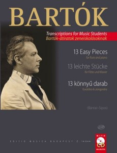 Bartok - 13 easy pieces for flute and piano - łatwe utwory na flet z fortepianem (+ płyta CD)