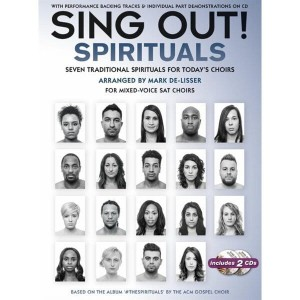 Sing Out! The Spirituals (+ 2 płyty CD) - nuty na chór SAT z fortepianem