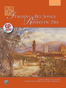 Italian Art Songs Of The Romantic Era for Medium / Low Voice (+ płyta CD) - nuty na głos średni / niski z fortepianem - księgarnia muzyczna Alenuty.pl