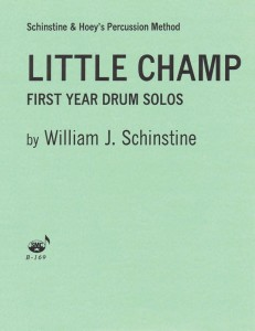 Willian J. Schinstine: Little Champ - First Year Drum Solos - Piano accompaniment - akompaniament fortepianowy do ćwiczeń