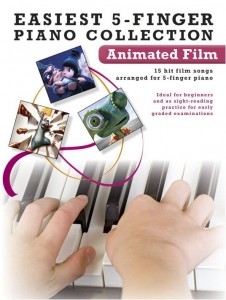 Easiest 5-Finger Piano Collection: Animated Film - nuty na pianino dla dzieci