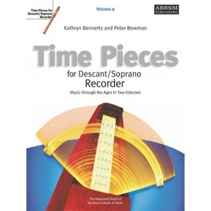 Time Pieces For Descant / Soprano Recorder 2 - nuty na flet prosty z fortepianem