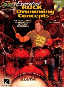 Jeff Bowders: Essential Rock Drumming Concepts: An Encyclopedia Of Progressive Rhythmic Techniques (+ płyta CD) - nuty na perkusję
