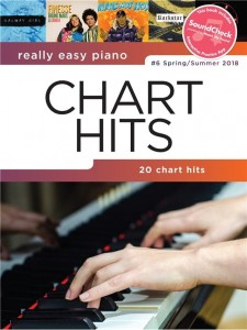 Really Easy Piano: Chart Hits 6 - Spring / Summer 2018 - łatwe utwory na fortepian (+ audio online)