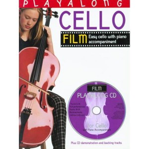 Playalong Cello: Film Tunes - nuty na wiolonczelę z fortepianem (+ płyta CD)