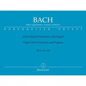 Bach J.S. - Eight Short Preludes and Fugues BWV 553-560 - 8 małych preludiów i fug - nuty na organy