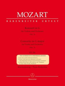 Mozart: Concerto G major for Violin and Orchestra no. 3 (KV 216) - koncert skrzypcowy G-dur - nuty na skrzypce i fortepian