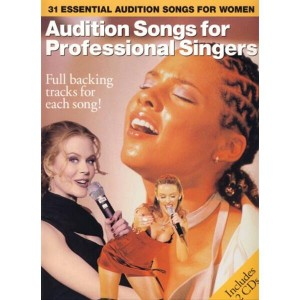 Audition Songs for Professional Female Singers - nuty na żeński głos solowy (+ 2 płyty CD)