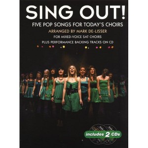 Sing Out! 5 Pop Songs For Today's Choirs Book 1 (+ audio online) - nuty na chór SAT z fortepianem