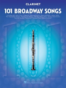 101 Broadway Songs: Clarinet - nuty na klarnet