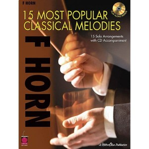 15 Most Popular Classical Melodies - F Horn - nuty na waltornię (róg F) solo (+ płyta CD)