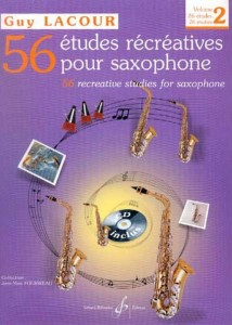 Guy Lacour: 56 Etudes Recreatives pour Saxophone Volume 2 - 26 etiud na saksofon (+ płyta CD)