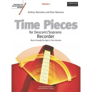 Time Pieces For Descant / Soprano Recorder 1 - nuty na flet prosty z fortepianem