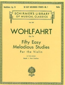 Fifty Easy Melodious Studies for the Violin op. 74 book 1 first position - Wohlfahrt - nuty na skrzypce