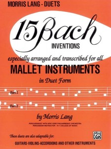 15 Bach Inventions For All Mallet Instruments in Duet Form - duety na melodyczne instrumenty perkusyjne