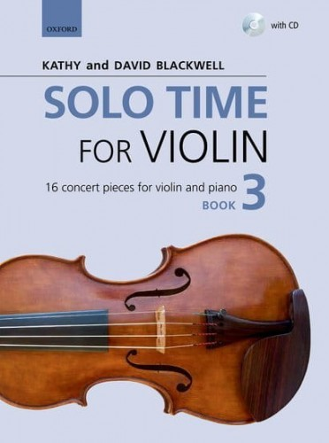 Solo Time for Violin Book 3 (+ płyta CD) - Blackwell  - utwory koncertowe na skrzypce i fortepian