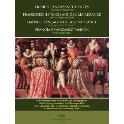 French Renaissance Dances for four recorders - francuskie tańce renesansowe na 4 flety proste