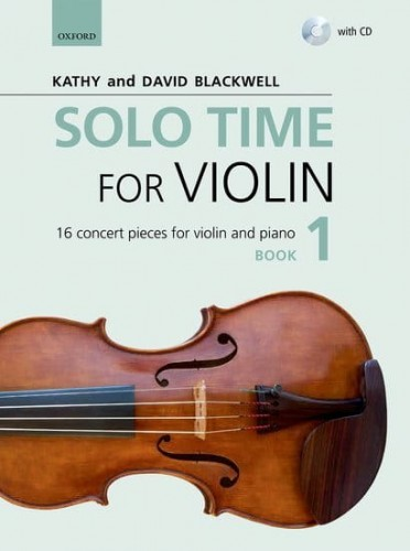 Solo Time for Violin Book 1 (+ płyta CD) - Blackwell  - utwory koncertowe na skrzypce i fortepian